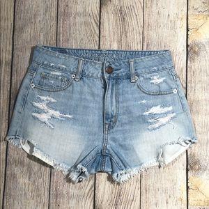 American Eagle distressed cutoff shorts